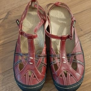 Red Jambu Terra Fusion Design Shoes Sz 7
